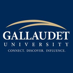 Logo that reads Gallaudet - Connect, Discover, Influence